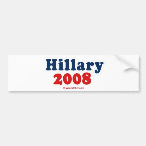 Hillary 2008 pegatina para auto