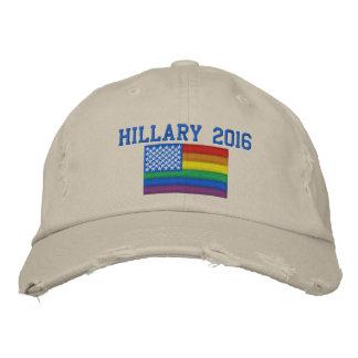 Hillary 2015 Baseball Cap - Gay Flag Design