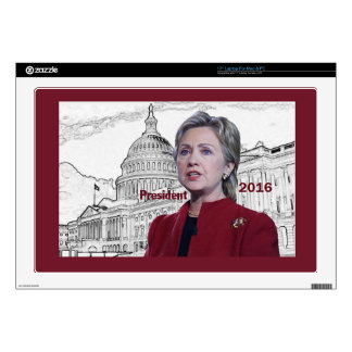 "Hillary 2016 17"" laptop decal"