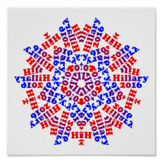 Hillary 2016 - 5 Points - Poster