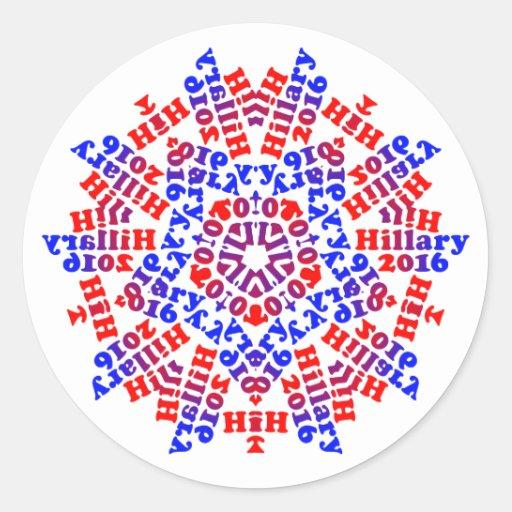 Hillary 2016 - 5 puntos - productos de Multple Etiqueta Redonda