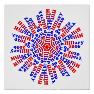 Hillary 2016 - 6 Points - Poster