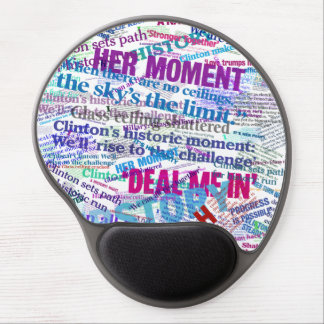 Hillary 2016 Abstract Headline Mousepad