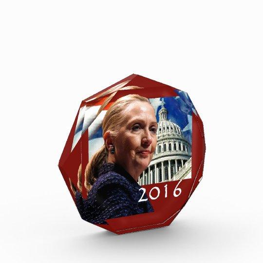 Hillary 2016 acrylic award