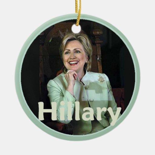 Hillary 2016 adorno de navidad