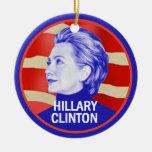 Hillary 2016 adorno redondo de cerámica