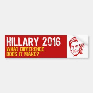 Hillary 2016/Benghazi Car Bumper Sticker