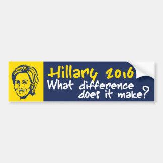 Hillary 2016/Benghazi Pegatina Para Auto
