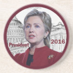 Hillary 2016 beverage coasters
