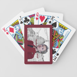 Hillary 2016 bicycle playing cards