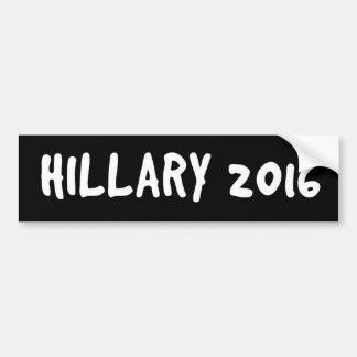 HILLARY 2016 Black and White Bumper Sticker