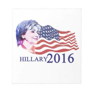 Hillary 2016 bloc de papel