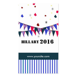 Hillary 2016 Double-Sided standard business cards (Pack of 100)