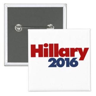 Hillary 2016 2 inch square button