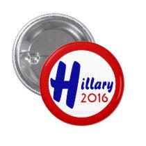Hillary 2016 by GrassrootsDesigns4u 1 Inch Round Button