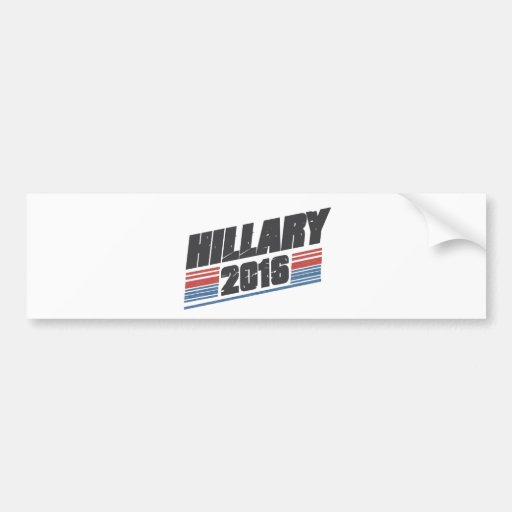 Hillary 2016 etiqueta de parachoque