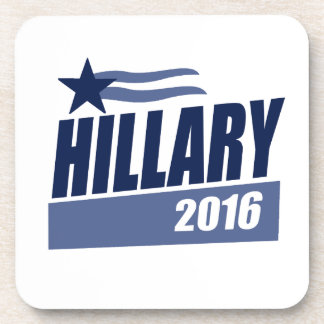HILLARY 2016 CAMPAIGN BANNER BEVERAGE COASTER