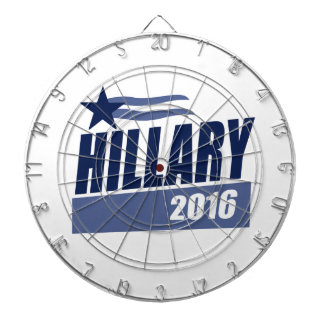 HILLARY 2016 CAMPAIGN BANNER DARTBOARD WITH DARTS