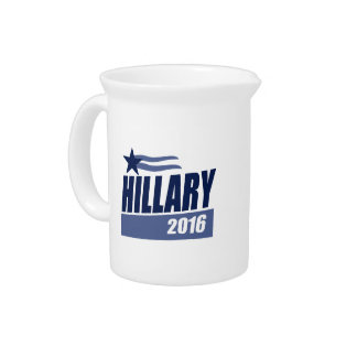 HILLARY 2016 CAMPAIGN BANNER PITCHER