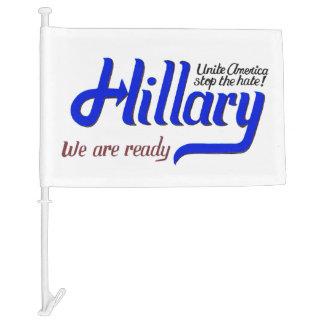 Hillary 2016 Car Flag - Unite America
