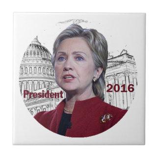 Hillary 2016 ceramic tile