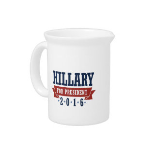HILLARY 2016 CERTIFIED RIBBON BEVERAGE PITCHER