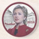 Hillary 2016 coaster