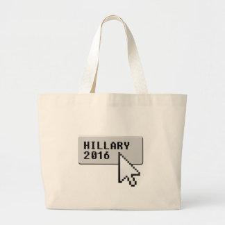 HILLARY 2016 CURSOR CLICK -.png Canvas Bag