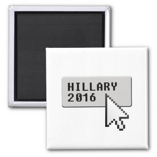 HILLARY 2016 CURSOR CLICK -.png 2 Inch Square Magnet