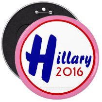 Hillary 2016 Customize It! by GrassrootsDesigns4u 6 Inch Round Button