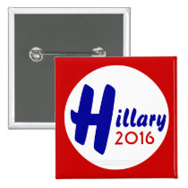 Hillary 2016 Customize It! by GrassrootsDesigns4u 2 Inch Square Button