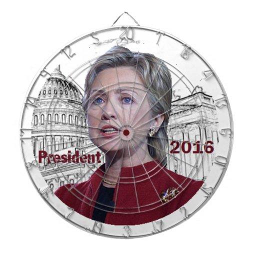 Hillary 2016 dart board