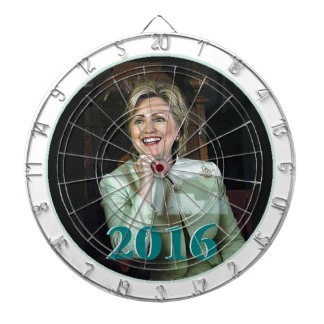 Hillary 2016 dartboard with darts