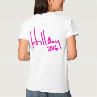 """HILLARY 2016"" (de doble cara) Remera"