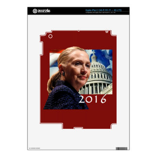 Hillary 2016 decal for iPad 3