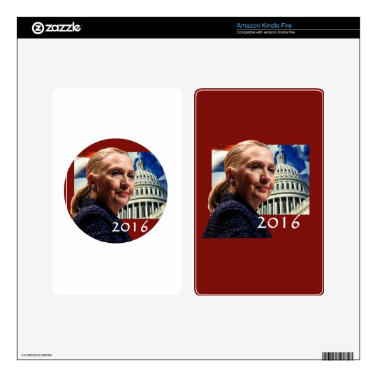 Hillary 2016 decals for kindle fire