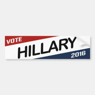 HILLARY 2016 DIAGONAL WEDGE -.png Car Bumper Sticker
