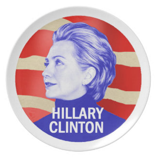 Hillary 2016 dinner plate