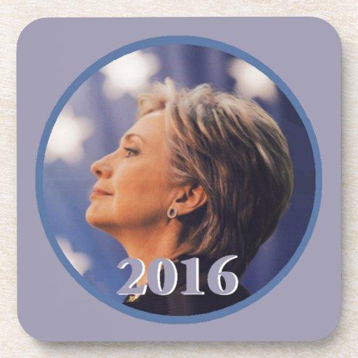 Hillary 2016 drink coaster
