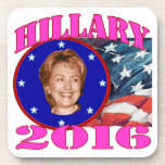 Hillary 2016 drink coasters