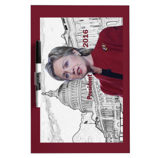 Hillary 2016 dry erase board