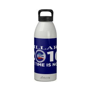 ¡Hillary 2016 el tiempo ahora está! Botella De Agua