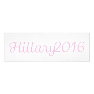 Hillary 2016 (elija su propio color) arte con fotos