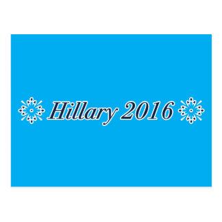 Hillary 2016 (elija su propio color) tarjeta postal