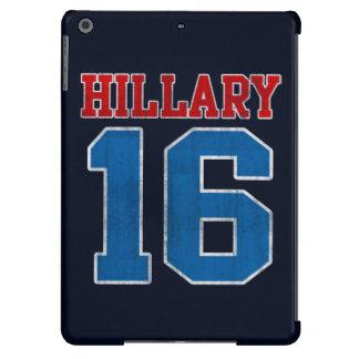 Hillary 2016, equipo universitario retro del Grung Funda Para iPad Air
