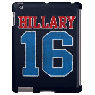 Hillary 2016, equipo universitario retro del Grung Funda Para iPad