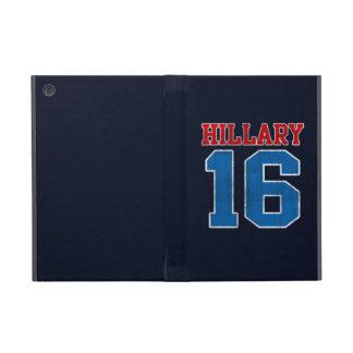 Hillary 2016, equipo universitario retro del Grung iPad Mini Protectores