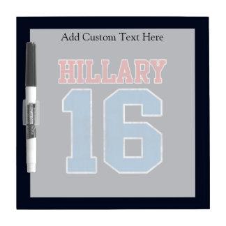 Hillary 2016, equipo universitario retro del Grung Pizarras Blancas De Calidad