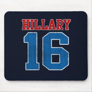 Hillary 2016, equipo universitario retro del tapete de raton