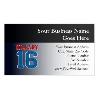 Hillary 2016, equipo universitario retro del tarjetas de visita